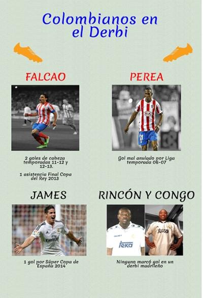 Colombianos en el Derbi